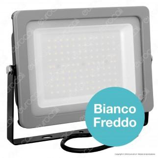 V-Tac VT-49100 Faretto LED SMD Ultrasottile 100W da Esterno Colore Grigio e Nero - SKU 5846 / 5847 / 5848