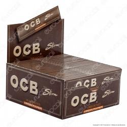 Cartine Ocb Virgin Paper King Size Slim Senza Cloro Lunghe - Scatola da 50 Libretti