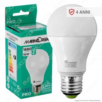Marino Cristal Serie PRO Lampadina LED E27 16W Bulb A60