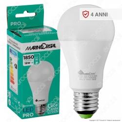 Marino Cristal Serie PRO Lampadina LED E27 18W Bulb A60 Dimmerabile