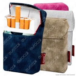 Atomic Portasigarette Portapacchetto in Tessuto Jeans Colorato