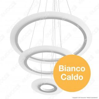 V-TAC VT-70-3 Lampadario LED Anello Triplo 70W Sospensione in Metallo Bianco - SKU 3873