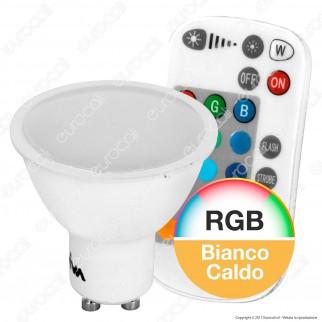 Wiva Lampadina LED GU10 5W Faretto Spotlight RGB+W con Telecomando