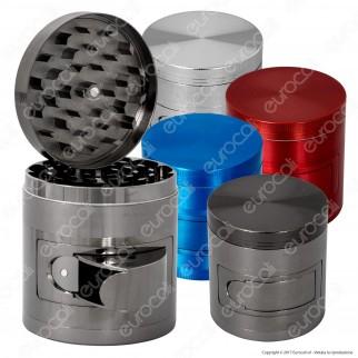 Grinder Tritatabacco 4 Parti in Metallo con Dosatore