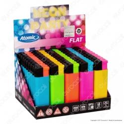 Atomic Electronic Flat Accendino Maxi Elettronico Ricaricabile - Box da 50 Accendini