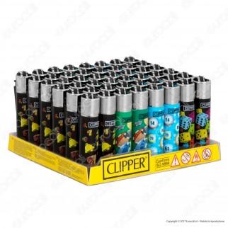 Clipper Micro Fantasia Games 17 - Box da 48 Accendini