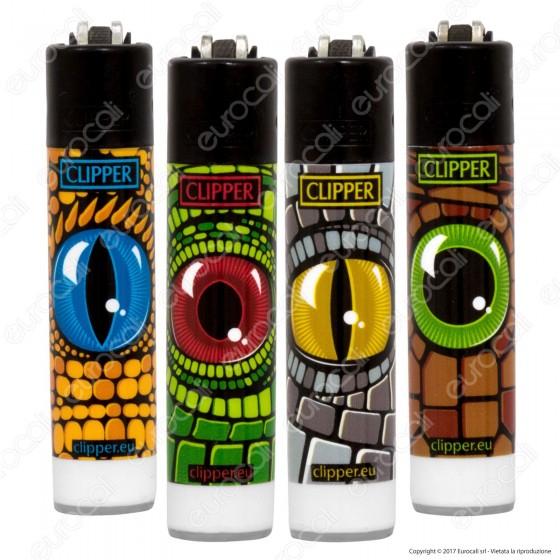 Clipper Micro Fantasia Reptilian Eyes - 4 Accendini