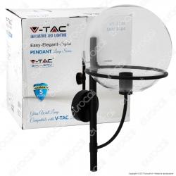 V-TAC VT-7226 Lampada da Muro in Vetro Trasparente con Portalampada per Lampadine E27 - SKU 3864