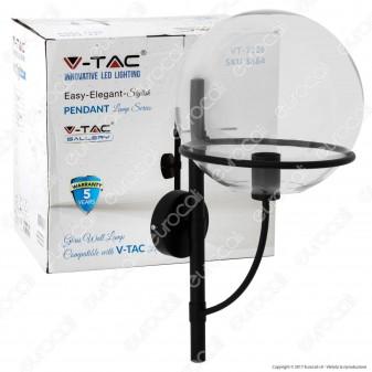 V-TAC VT-7226 Lampadario in Vetro Trasparente con Portalampada per Lampadine E27 - SKU 3864