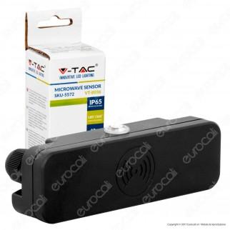 V-Tac VT-8036 Sensore di Movimento a Microonde IP65 per Lampadine - SKU 5572