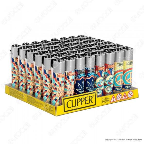 Clipper Large Fantasia The 60's - Box da 48 Accendini