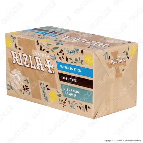 Rizla Natura Slim 5,7mm Biodegradabili - Box 20 Scatoline da 120 Filtri