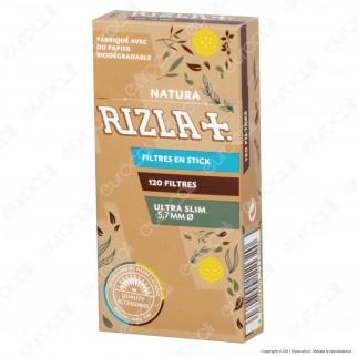 Rizla Natura Slim 5,7mm Biodegradabili - Scatolina da 120 Filtri
