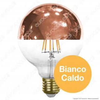 Paulmann Lampadina LED E27 7,5W Globo G95 Filamento Calotta a Specchio