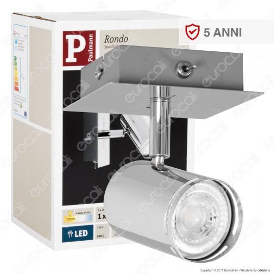 Paulmann Portafaretto Track Light LED 3,5W GU10 Orientabile