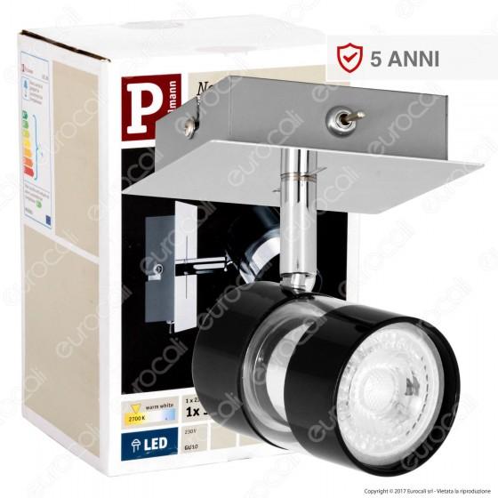 Paulmann Portafaretto Nevo Track Light Orientabile con Lampadina LED 3,5W GU10