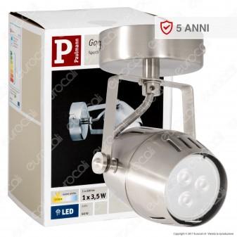 Paulmann Portafaretto Gamma Track Light Orientabile con Lampadina LED 3,5W GU10
