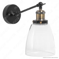 V-TAC VT-7142 Lampada da Muro in Vetro Trasparente con Portalampada per Lampadine E27 - SKU 3861