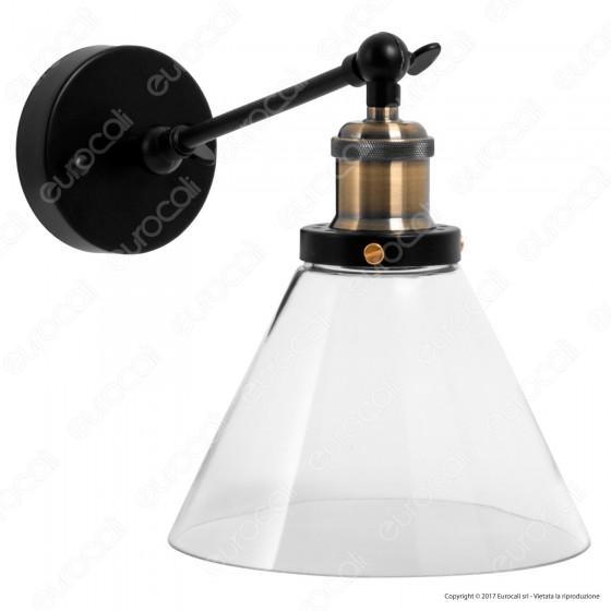 V-TAC VT-7143 Lampada da Muro in Vetro Trasparente con Portalampada per Lampadine E27 - SKU 3862