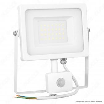 V-Tac VT-4922 Faretto LED 20W Ultra Sottile Slim con Sensore Colore Nero - SKU 5801 / 5802 / 5803