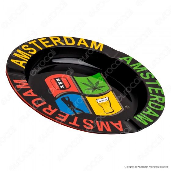 Amsterdam Posacenere da Tavolo Rotondo in Metallo - Windows