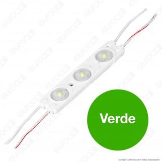 V-Tac VT-28356 Modulo 3 LED 1,5W 12V Monocolore Impermeabile - SKU 5124 / 5125 / 5126 / 5127 / 5128