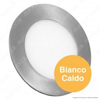 V-Tac VT-607RD Pannello LED Rotondo 6W SMD Satinato da Incasso con Driver - SKU 6337 / 6339