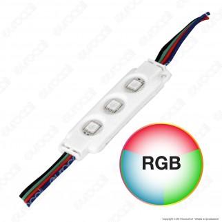 V-Tac VT-50506 Modulo 3 LED 0,72W 12V RGB Impermeabile - SKU 5134