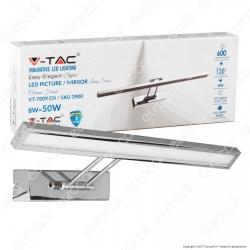 V-Tac VT-7009 Lampada da Specchio Wall Light Cromata 8W - SKU 3984 / 3900