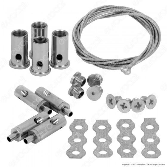 V-Tac Kit per Montaggio a Sospensione di Pannelli LED - SKU 6317