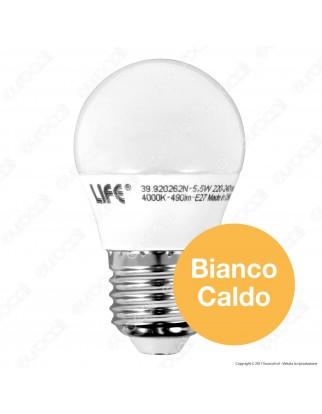 Life Lampadina LED E27 5,5W MiniGlobo G45