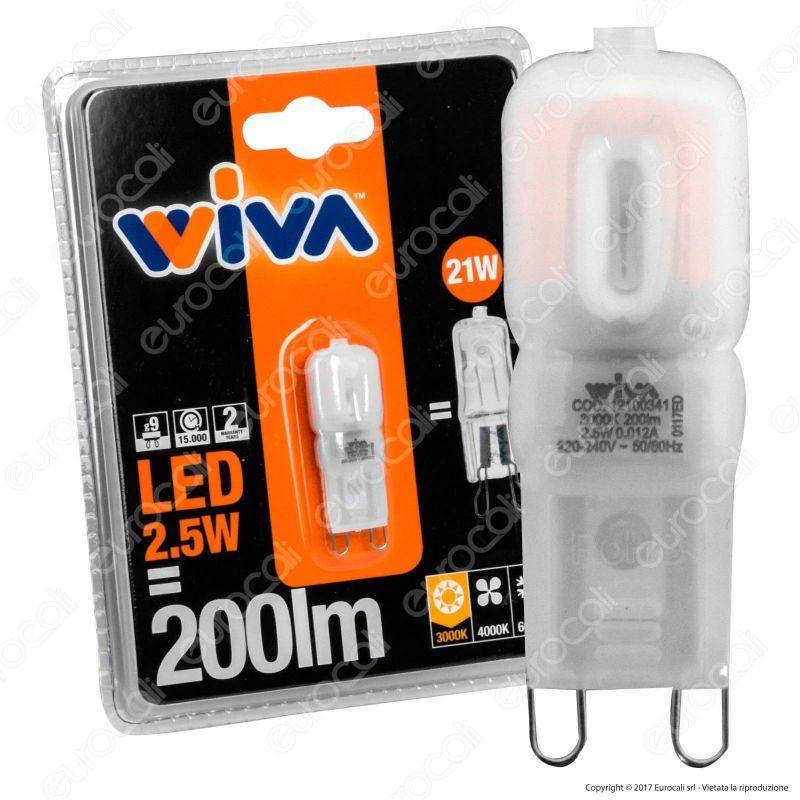 Lampadina led wiva g9 da 2 5w bulb for Lampadine g9 led
