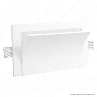 Portalampada in Gesso da Parete per Lampadine R7s - ART65