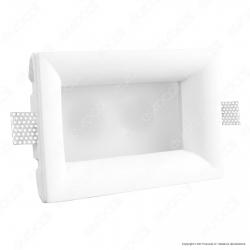 Portafaretto Rettangolare da Incasso in Gesso e Vetro per Lampadine GU10 e GU5.3 - ART67