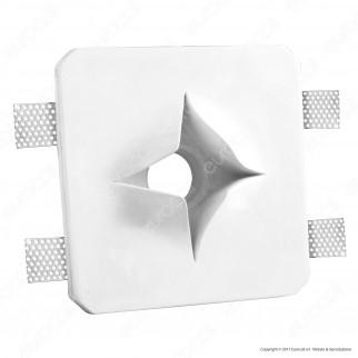 Portafaretto Quadrato da Incasso in Gesso per Lampadine GU10 e GU5.3 - ART68