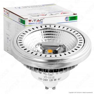 V-Tac VT-1112D Lampadina LED AR111 GU 10 12W Faretto da Incasso Dimmerabile - SKU 7234 / 7235 / 7236