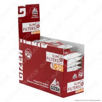 Gizeh Slim 6mm con Striscia Gommata - Box 20 Bustine da 150 Filtri