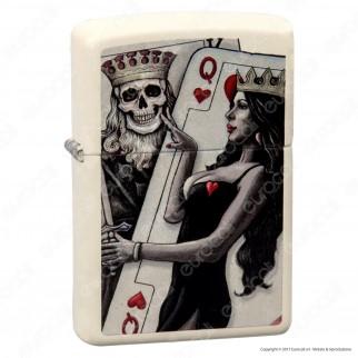 Accendino Zippo Mod. 29393 King & Queen - Ricaricabile Antivento