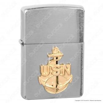 Accendino Zippo Mod. 280ANC United States Navy Placca - Ricaricabile Antivento