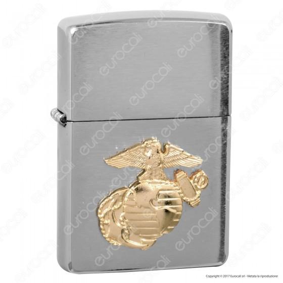 Accendino Zippo Mod. 280MAR Marines Corps Placca - Ricaricabile Antivento