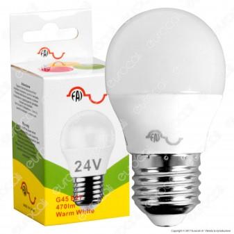 FAI Lampadina LED E27 25W MiniGlobo G45 24V AC / DC