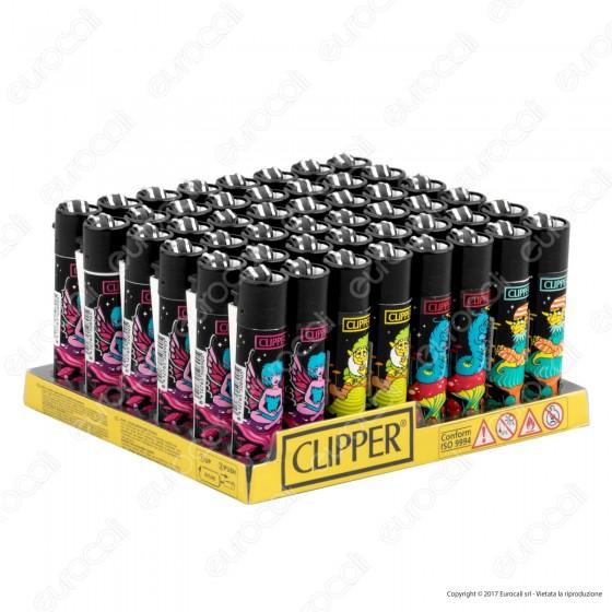 Clipper Large Fantasia Trippy Elves - Box da 48 Accendini