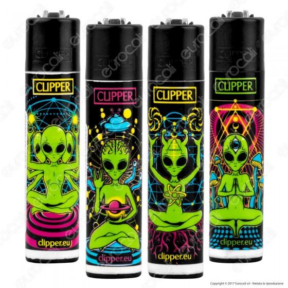 Clipper Large Fantasia Trippy Aliens - 4 Accendini