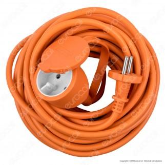 Velamp Cavo Prolunga Spina Presa Schuko 16A 20 metri Colore Arancione