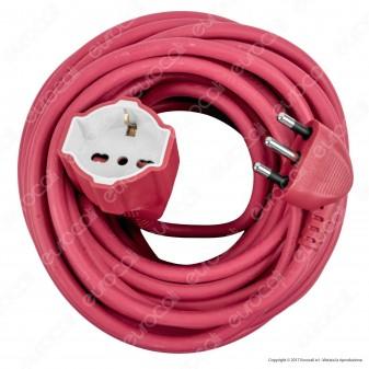 Velamp Cavo Prolunga Spina 2P+T 16A Presa 2P+T+T 10/16A 20 metri Colore Fucsia