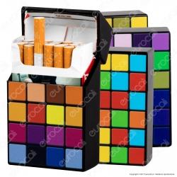 Champ Portasigarette Portapacchetto in Plastica Pattern Cube