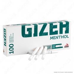 Gizeh Tubetti con Filtro al Mentolo - Box da 100 Sigarette Vuote