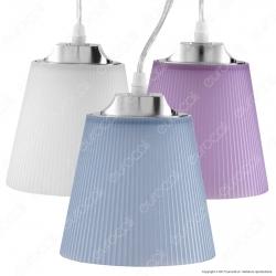 V-TAC VT-1036 Lampadario LED 7W Campana in Plastica Colorata Attacco Cromato - SKU 8504 / 8505 / 8506