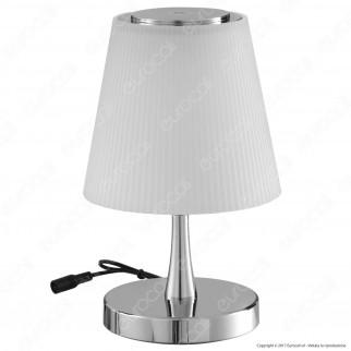 V-TAC VT-1036 Lampada da Tavolo LED 5W Touch Dimmerabile Base Cromata - SKU 8504 / 8505 / 8506