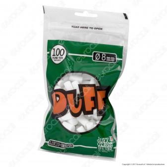 Duff Filtri Regular 8mm Lisci - Bustina da 100 Filtri